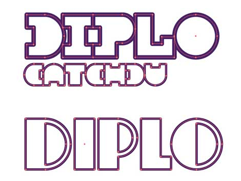 Diplo poster design by Mike Davis of Burlesque Of North America