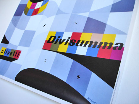 Herbert Bayer Olivetti Poster Divisumma calculator 1953