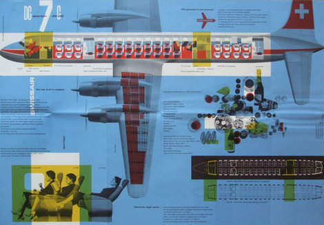 Swiss Air leaflet - design by Kurt Wirth