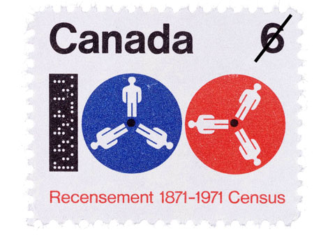 Hans Kleefeld Canadian census stamp