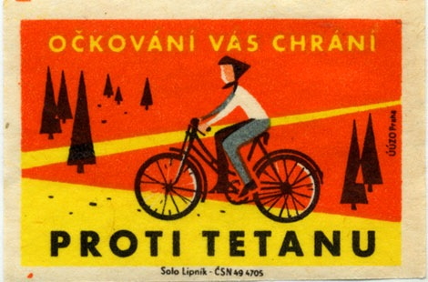 1960s czech matchbox label