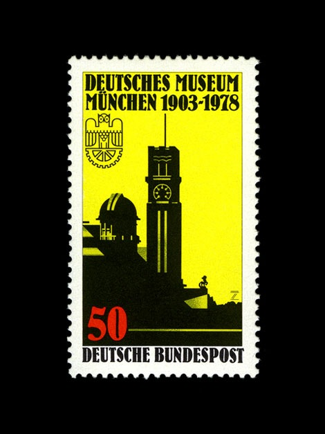museum munich germany-stamp-1978