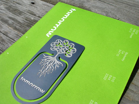 tomorrow partners promotional bookmark