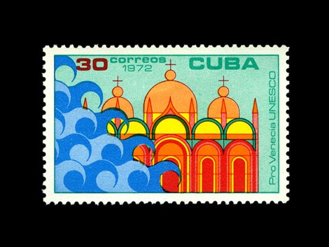 unesco-cuba-stamp-1970s save venice series