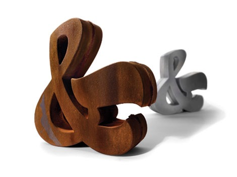 House industries ampersand- sculptures