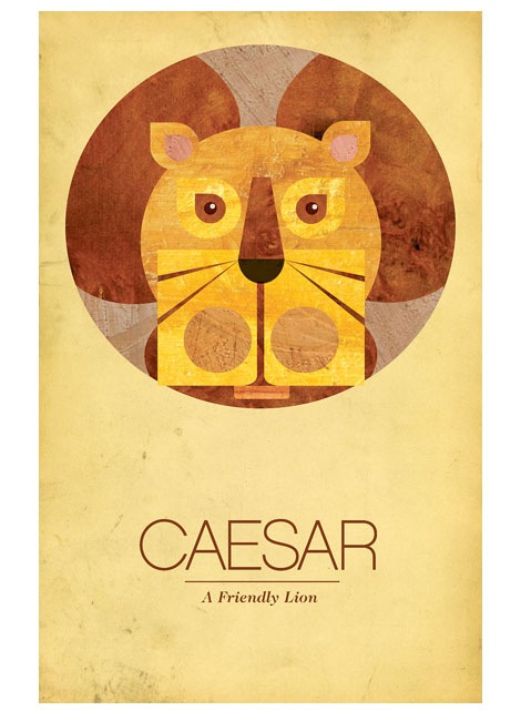 able caesar lion poster