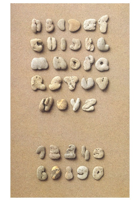 clotilde olyff pebble alphabets