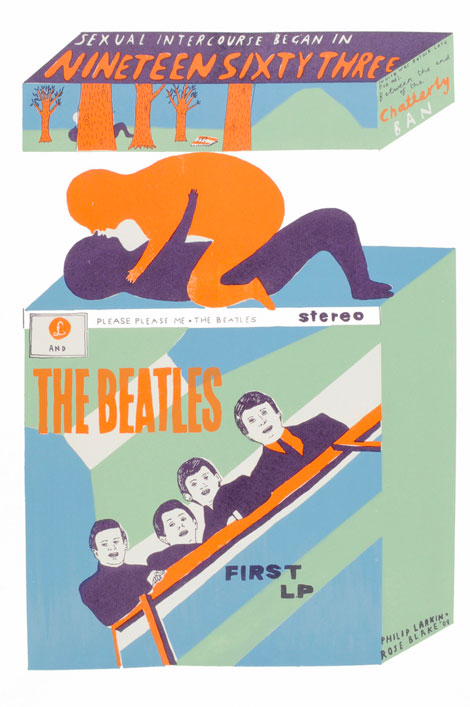 Rose Blake illustration, screenprint, London, UK, Beatles