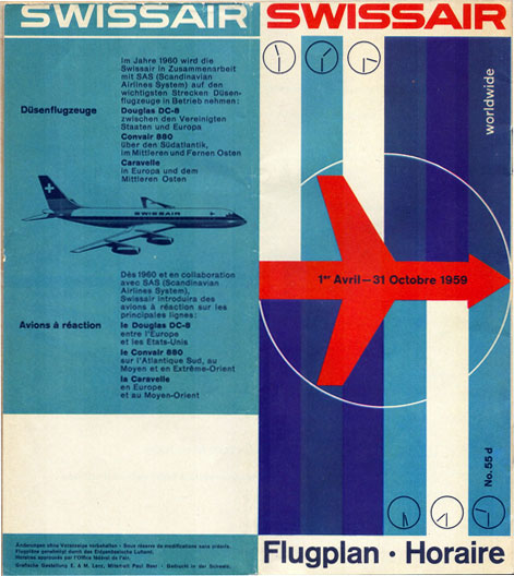 swissair timetables