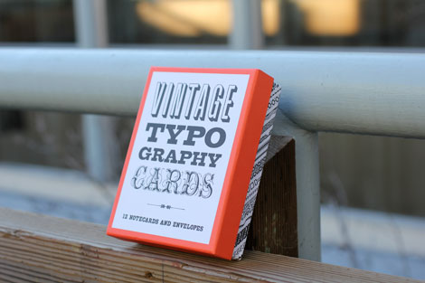 vintage typography cards
