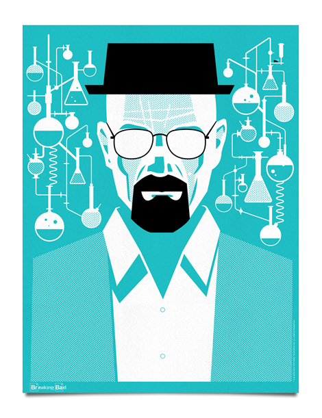 Breaking Bad Poster by Mattson Creative via grain edit