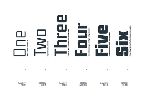 Ramsey font part of Mike Cina Interview #grainedit #designinprocess #newcreatives