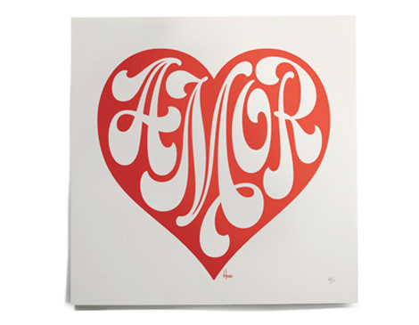 Amour Print by House Industries via #grainedit