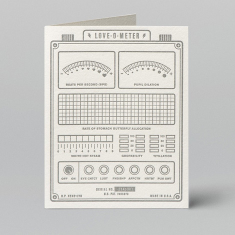 Love-O-Meter Card by W + K